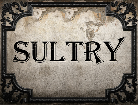 sultry: sultry word on concrete wall Stock Photo