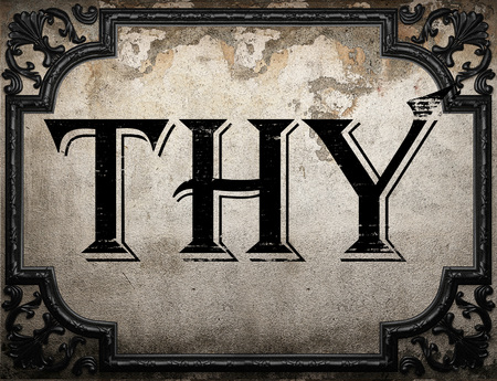 thy: thy word on concrete wall