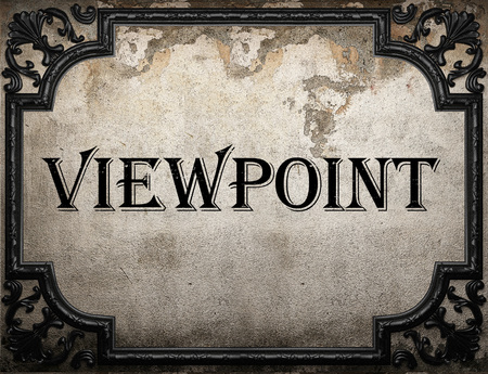 viewpoint: viewpoint word on concrete wall
