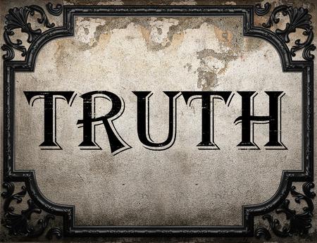Prawda słowo na betonową ścianę Zdjęcie Seryjne