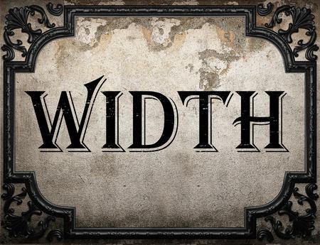 width: width word on concrete wall
