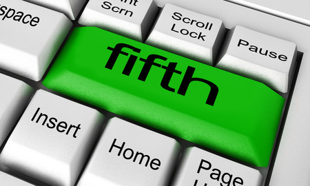 fifth: fifth word on keyboard button