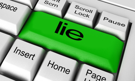 word processor: lie word on keyboard button Stock Photo