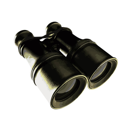 turnout: vector Old military binoculars