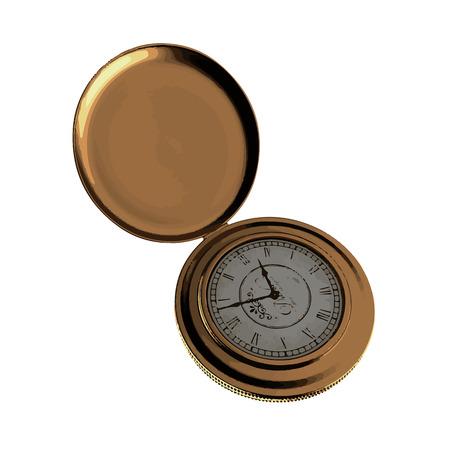 pocket watch: vector retro pocket watch