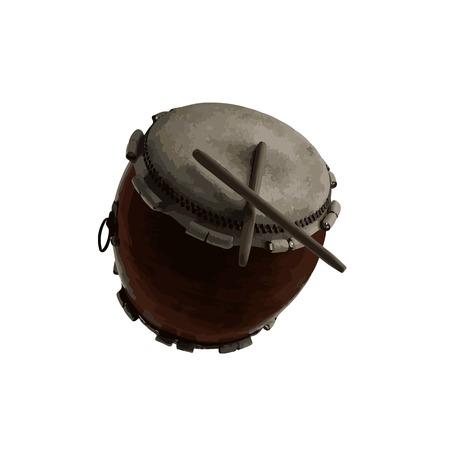 vector Japanese Taiko percussion drum