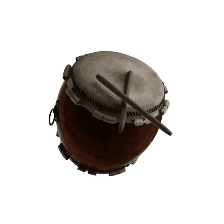 vector Japanese Taiko percussion drum