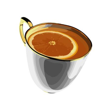 vector cup of tea