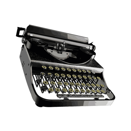type writer: vector Vintage typewriter Illustration