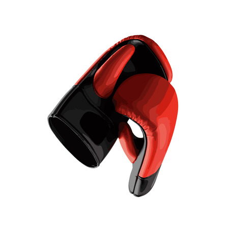 leather gloves: vector Pair of leather boxing gloves