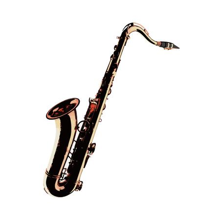 tenor: vector Golden Tenor Saxophone