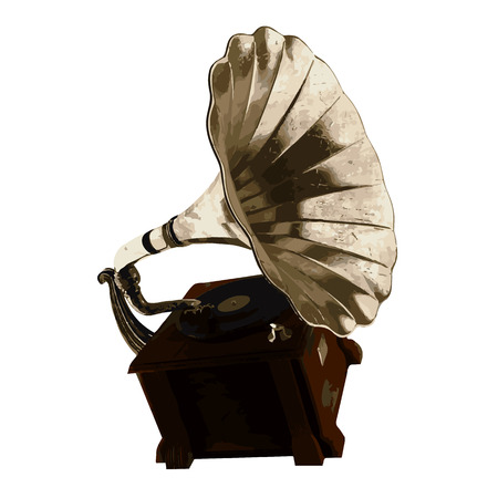 antiquities: vector Vintage gramophone