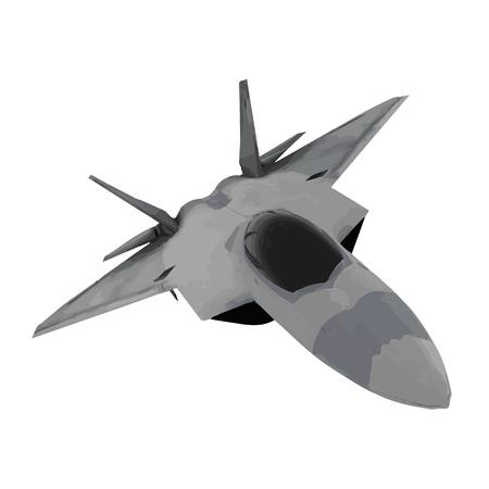 image jet fighter vector Vector Illustratie