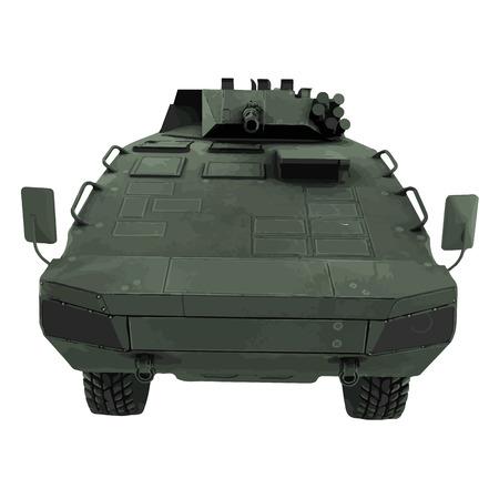 armoured: Vector military tank illustration