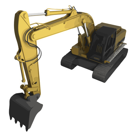high detailed: vector high detailed excavator