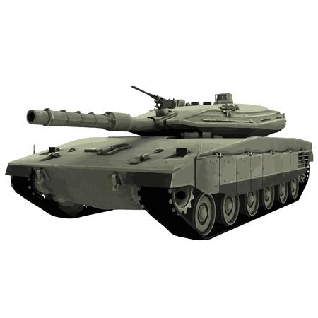 Vector military tank illustration Vetores