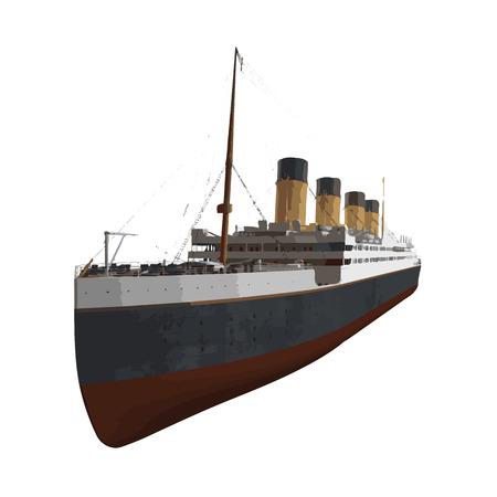 Vektor-Kreuzfahrtschiff Illustration