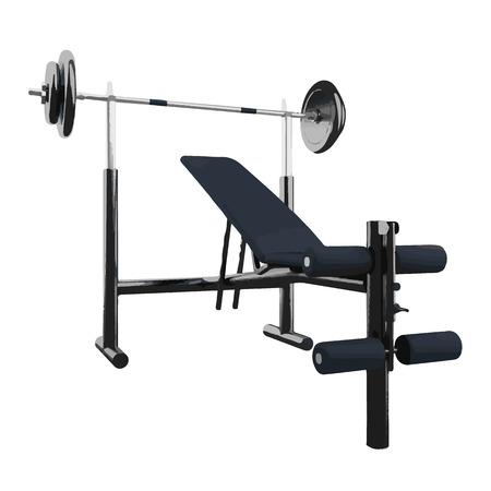 benchpress: vector illustration of gym equipment