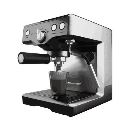cappucino: vector coffee mashine isolated