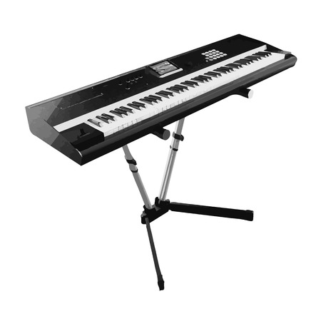 synthesizer: vector digital piano synthesizer isolated on white Illustration