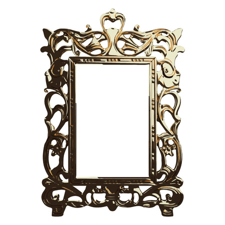 vector golden frame illustration