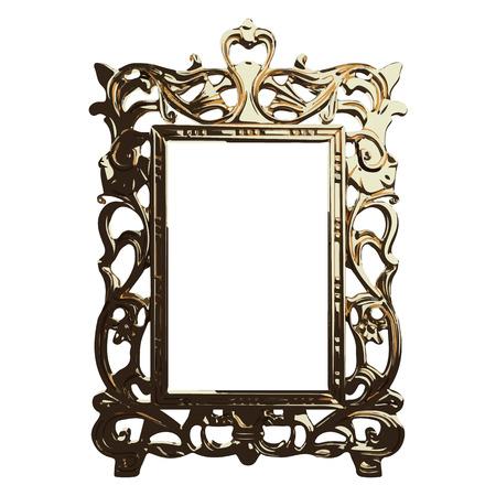 vector gouden frame illustratie Vector Illustratie