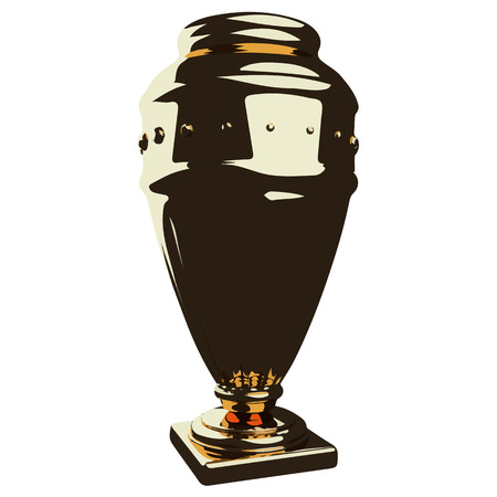 potter: Vector illustration of golden shiny vase