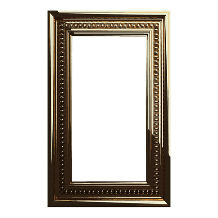 golden frame: vector golden frame illustration