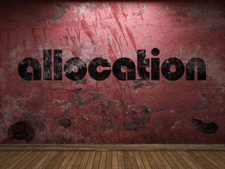 allocation: allocation word on red wall