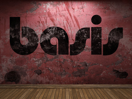 Basis: basis word on red wall