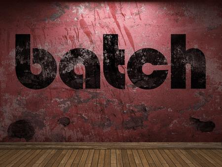 batch: batch word on red wall
