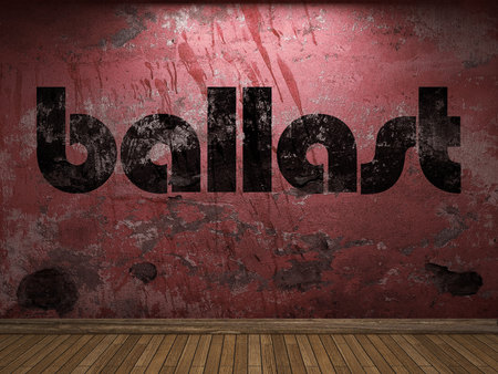 ballast: ballast word on red wall Stock Photo
