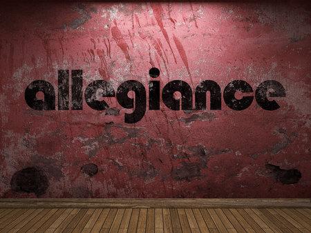 allegiance: allegiance word on red wall
