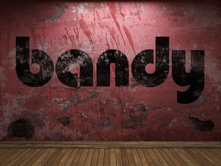 bandy: bandy word on red wall