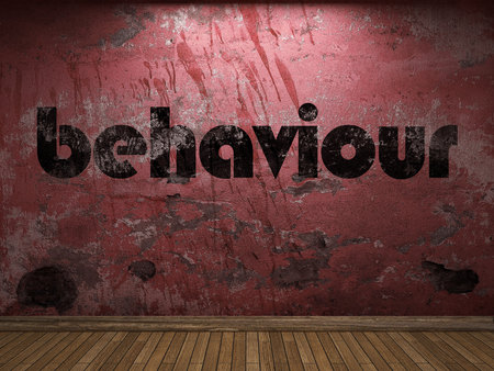 behaviour: behaviour word on red wall