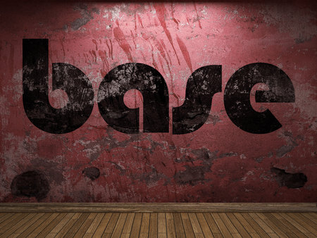 base: base word on red wall