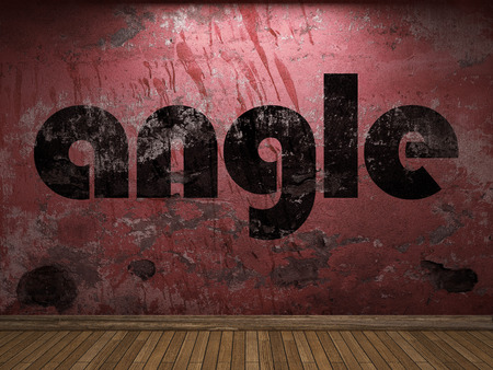 angle: angle word on red wall