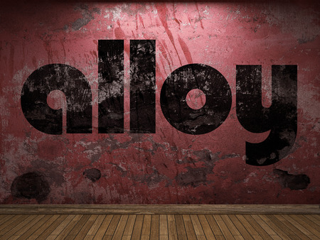alloy: alloy word on red wall