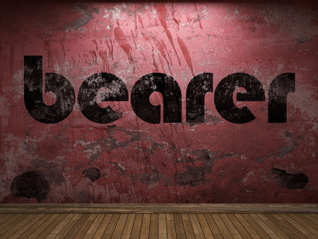 bearer: bearer word on red wall