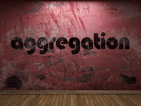 aggregation: aggregation word on red wall