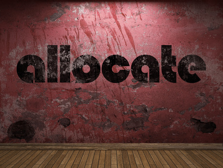 allocate: allocate word on red wall