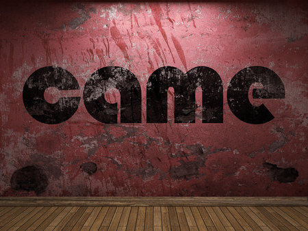 came: came word on red wall