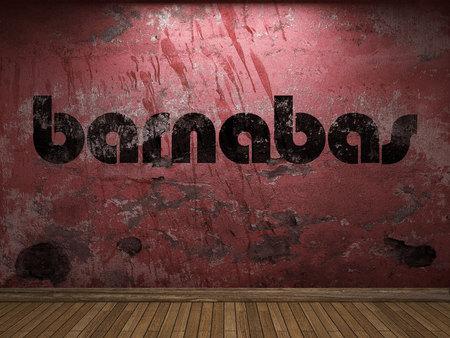barnabas: barnabas word on red wall