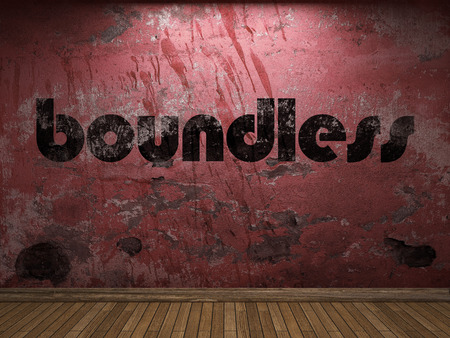 boundless: boundless word on red wall