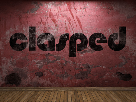 clasped: clasped word on red wall