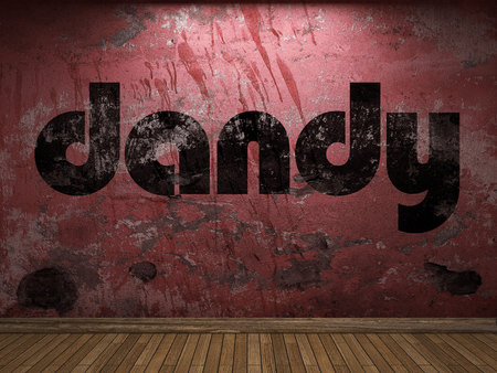 dandy word on red wall