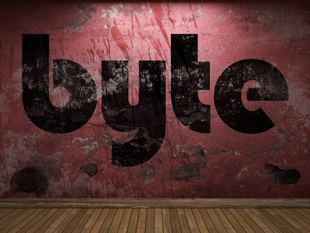 byte: byte word on red wall