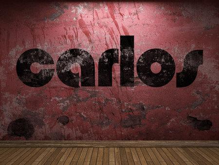 carlos: carlos word on red wall