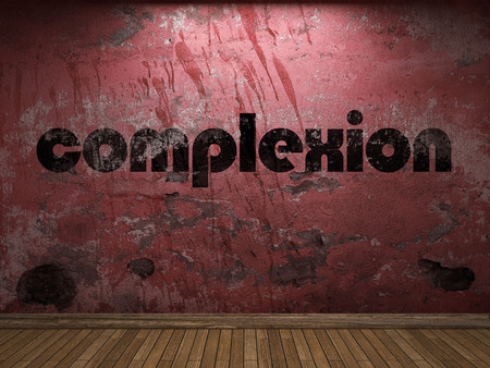 complexion: complexion word on red wall