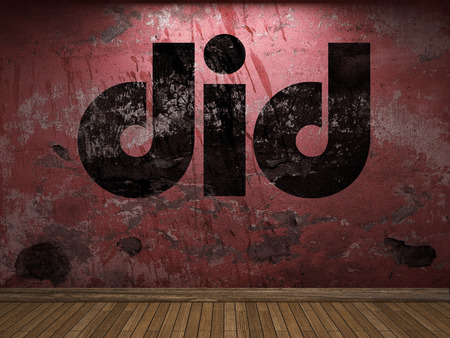 did: did word on red wall